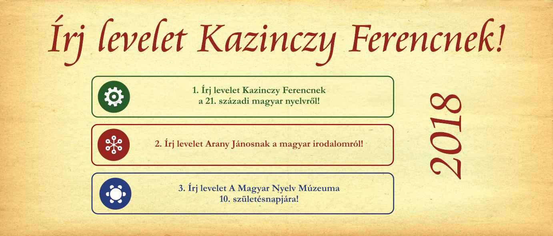 Írj levelet Kazinczy Ferencnek! pályázat